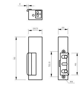 Zaczep-elektromagnetyczny-bez-blokady-lewy-R3-12V-R3-12.10L-ORNO-OR-EZ-4013-1